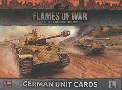FOW: German Unit Cards