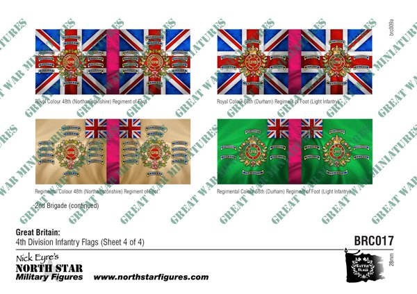 British 4th Division Infantry Flags (Sheet 4 of 4)