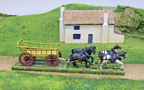 Ladder-Sided Waggon (inc team of 4 Horses)