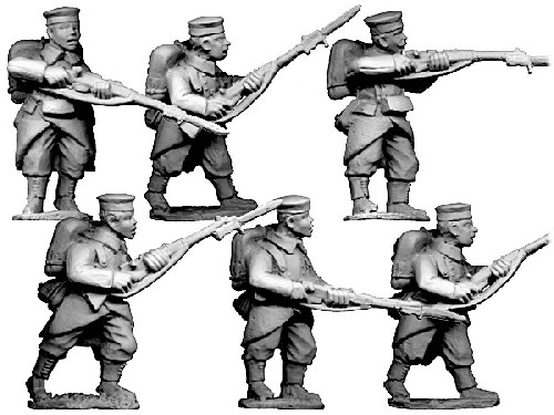 Grenadiers/ Infantry in Caps