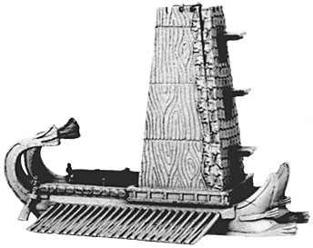 Hellenistic siege towers with bolt & stone throwers