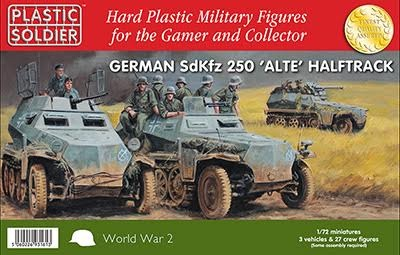 1/72nd German SdKfz 250 alte halftrack
