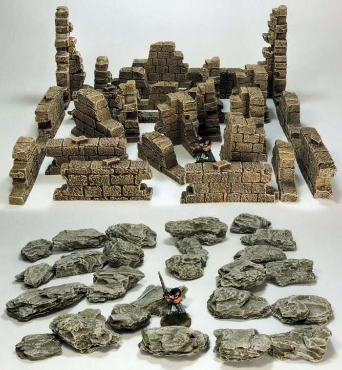 Ruined Walls and Rock Pack.