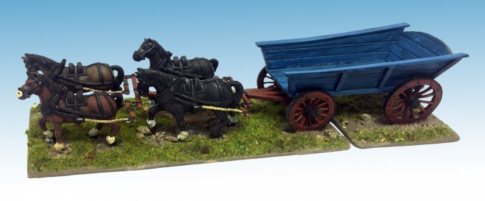 Plank-sided Waggon (inc team of 4 horses)