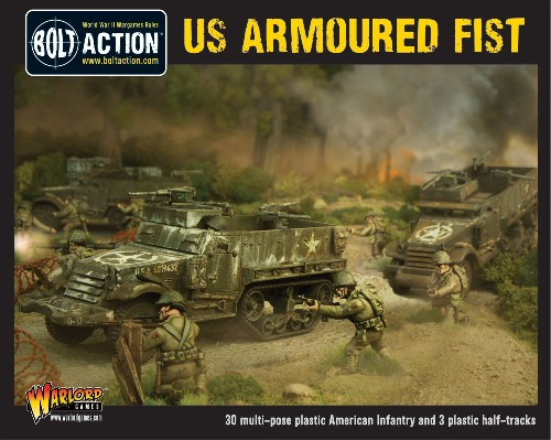 US Armored Fist set - 3 M3A1 Half-tracks & 30 US Infantry