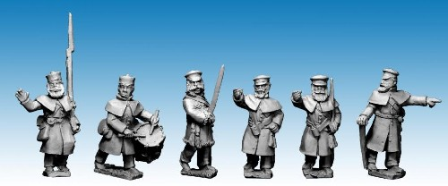 British Infantry in Greatcoats and Forage Caps Command
