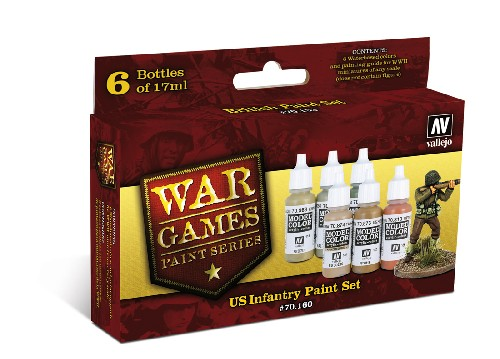 Vallejo WW2 Wargames US Infantry paint set