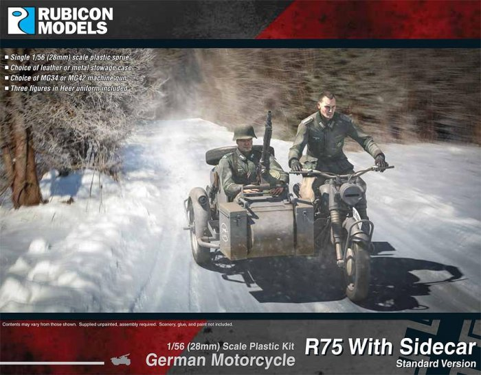 German Motorcycle R75 with Sidecar. (ETO)