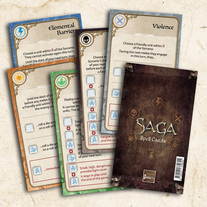 Saga: Age of Magic Spell Cards