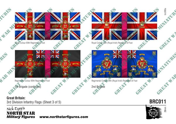 British 3rd Division Infantry Flags (Sheet 3 of 5)