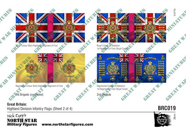 British Highland Division Infantry Flags (Sheet 2 of 4)