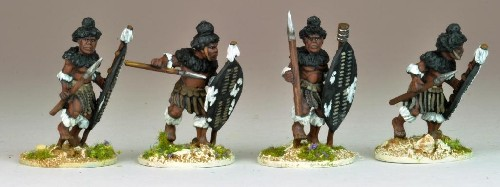 Matabele Warriors in full Regalia (Insuga Regt.)