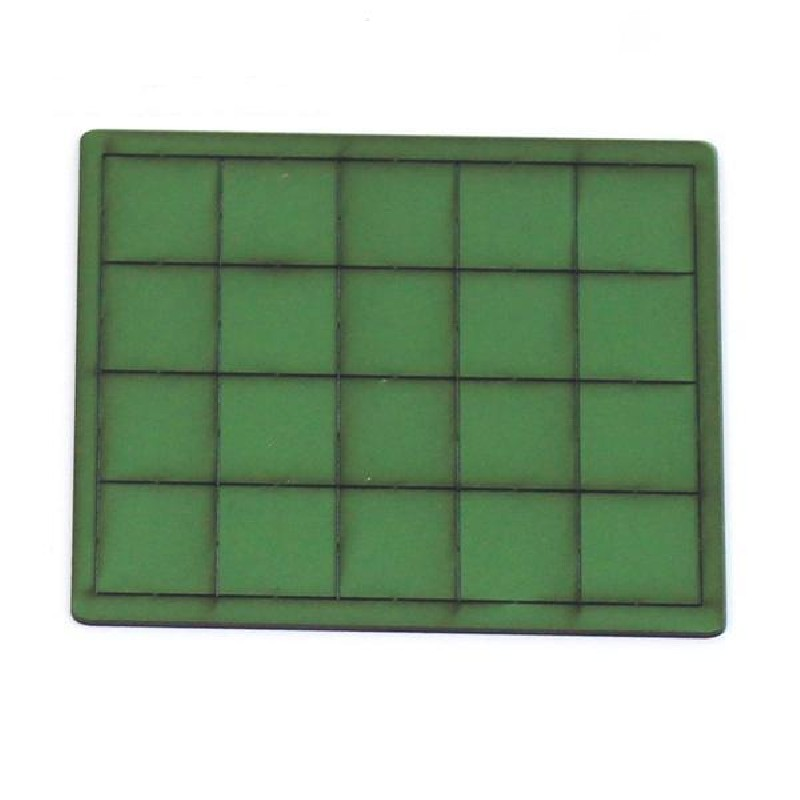 20mm x 20mm Primed Green Bases