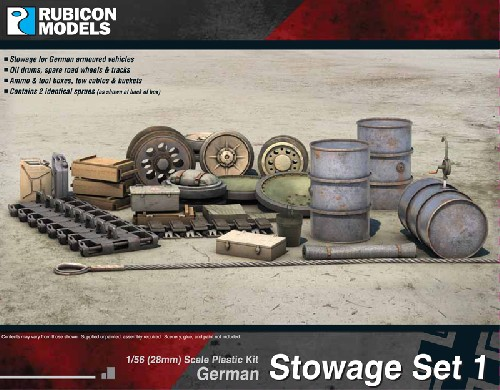 German Stowage Set. (28mm sized)