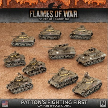 Patton's Fighting First (5x Shermans, 3x Stuarts, 2x M10's - Plastic)