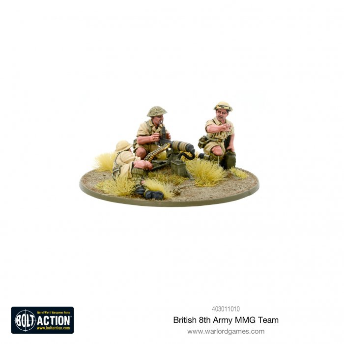 Bolt Action - British 8th Army MMG Team