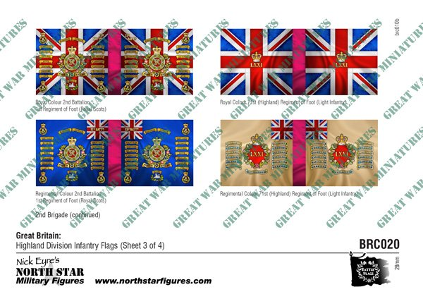 British Highland Division Infantry Flags (Sheet 3 of 4)