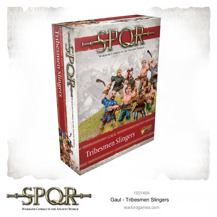 SPQR: Gaul Tribesmen Slingers -  Warlord Games