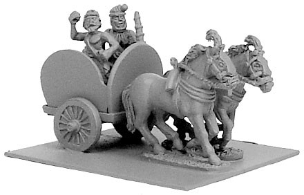 Indian 2-Horse Chariot w/2 Crew