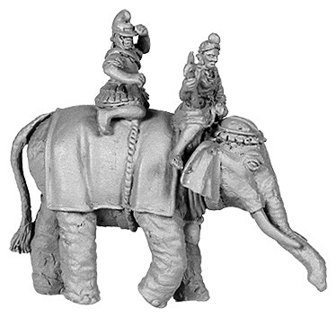 Hellenistic Elephant, with 2 crew, Pike Astride Right