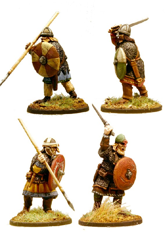 SX02 - Anglo-Saxon Thegns (Hearthguard) - North Star Military Figures