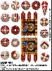 Photo of Spanish Banner & shield transfers  for 4pt warband  (LBMS SAGA SSP99)