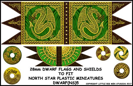 Dwarf Flag and Shields
