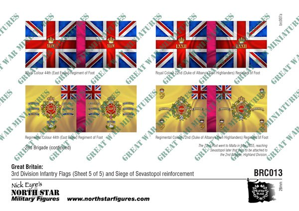 British 3rd Division Infantry Flags (Sheet 5 of 5) and Siege of Sevastopol reinforcement