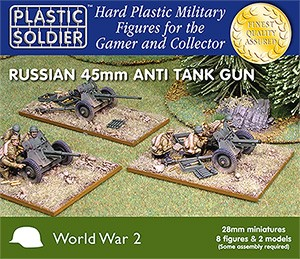 Russian 45mm Anti-tank guns (28mm Scale)