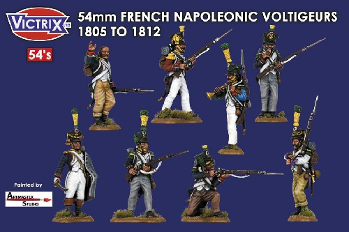 54mm French Napoleonic Voltigeurs 1805 - 1812