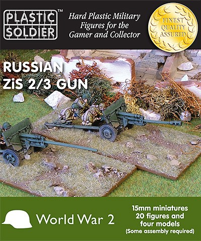 15mm Russian Zis2/3 anti tank and field gun