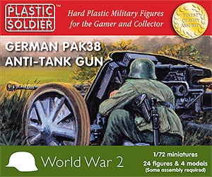 1/72nd German Pak 38 anti tank gun