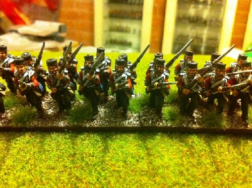 British Line Infantry Flank Company Charging