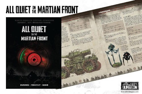 All Quiet on the Martian Front Hardcover Rulebook -  Alien Dungeon