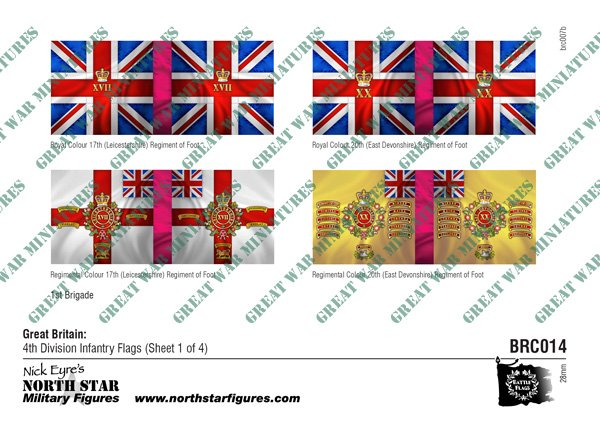 British 4th Division Infantry Flags (Sheet 1 of 4)