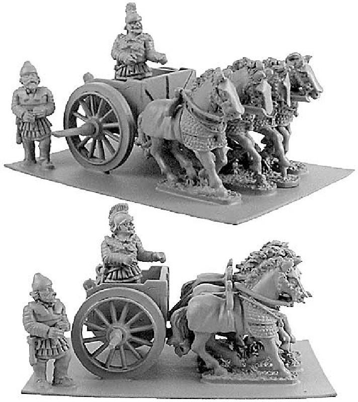 Persian Scythed Chariot w/ choice of Two Crew