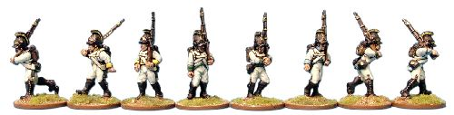 Austria-Hungary 1798- German infantry, firing line
