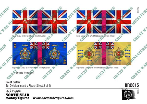 British 4th Division Infantry Flags (Sheet 2 of 4