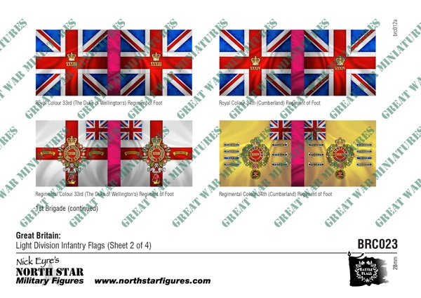 British Light Division Infantry Flags (Sheet 2 of 4)
