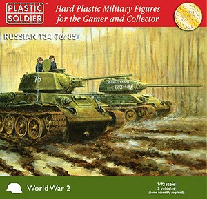 1/72nd Easy Assembly T34 76/85 Tank - Box Damaged