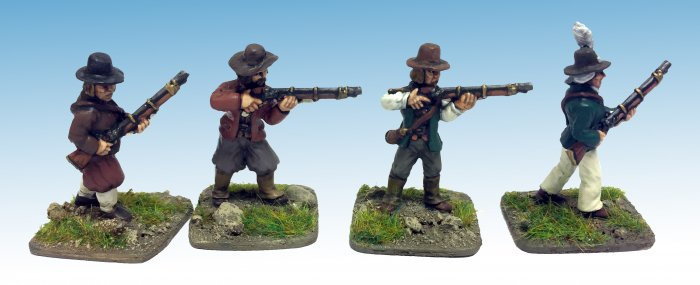Vendean/ Breton Rebels. Muskets