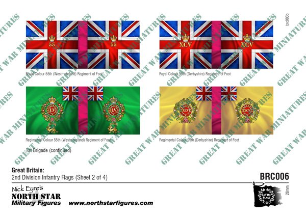 British 2nd Division Infantry Flags (Sheet 2 of 4)