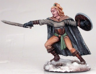 WILDLING SPEARWIFE WITH SWORD AND SHIELD