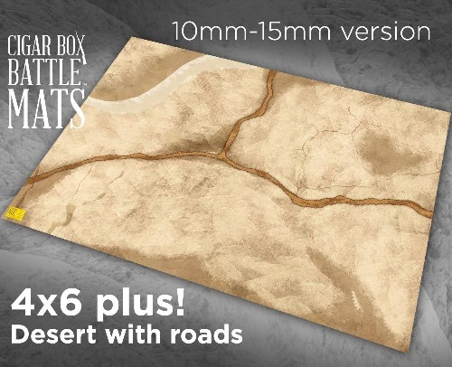 DESERT GAMING BATTLE MAT WITH ROADS