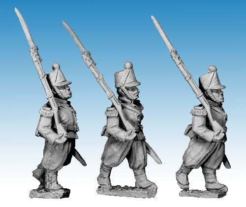 French Guard Chasseur Marching.