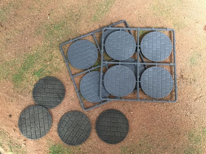 60mm Diameter Paved Effect Bases -  Renedra