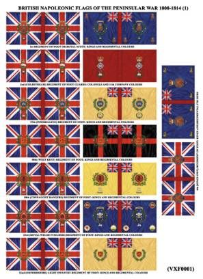 British Set of Regimental Colours