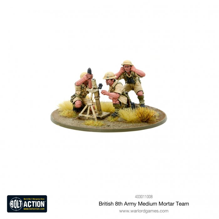 Bolt Action - British 8th Army Medium Mortar Team