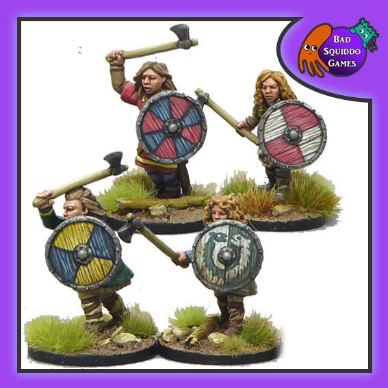 Shieldmaiden Warriors (with Axes)