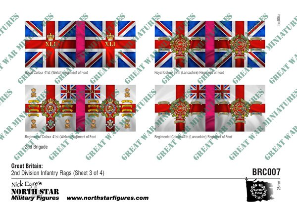 British 2nd Division Infantry Flags (Sheet 3 of 4)